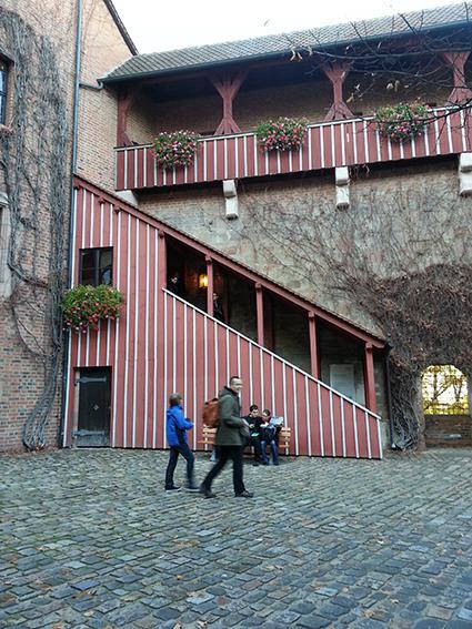 Innenhof der Burg in Nürnberg