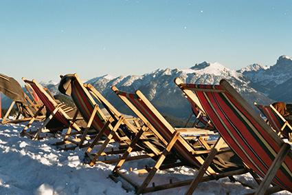 Sonnenstühle auf dem Wank bei Garmisch-Patenkirchen